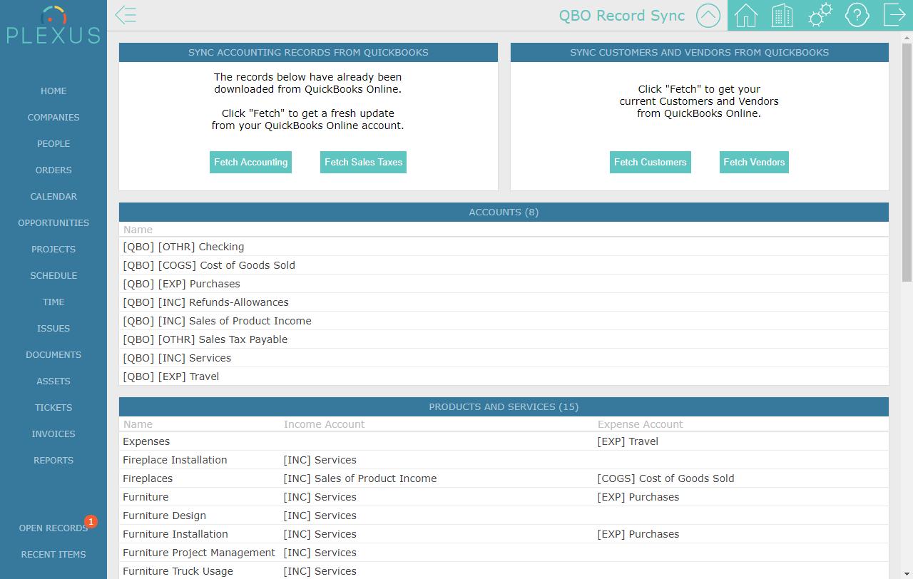 Plexus Features - Quickbooks online invoicing portal features